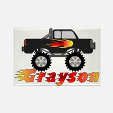 grayson-monstertruck Rectangle Magnet