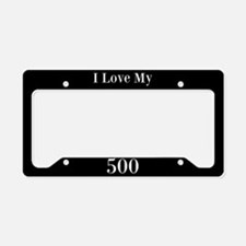 I Love My 500 License Plate Holder