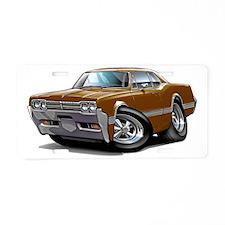 1966 Olds Cutlass Brown Car Aluminum License Plate