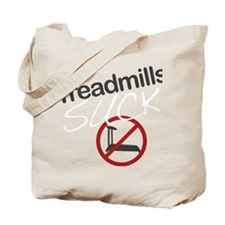treadmill_red_dark_large Tote Bag