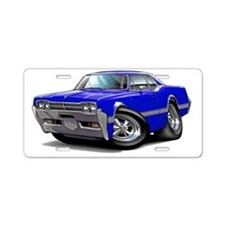 1966 Olds Cutlass Blue Car Aluminum License Plate