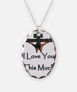 Jesus_045Hugeclean29 Necklace Oval Charm