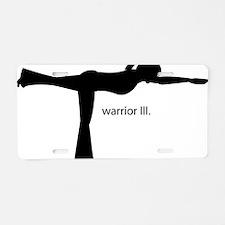 warriorIII Aluminum License Plate