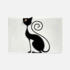 Black Cat Vintage Style Design Magnets