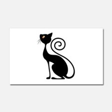 Black Cat Vintage Style Design Car Magnet 20 x 12