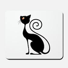 Black Cat Vintage Style Design Mousepad