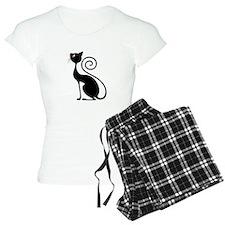 Black Cat Vintage Style Design Pajamas