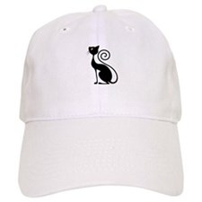 Black Cat Vintage Style Design Baseball Baseball Cap