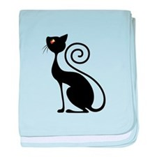 Black Cat Vintage Style Design baby blanket