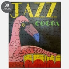 Flamingo Conga Drummer Puzzle