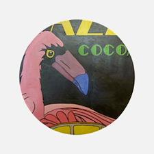 "Flamingo Conga Drummer 3.5"" Button"