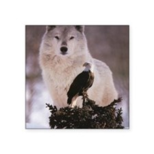 "wolf-and-eagle 5 Square Sticker 3"" x 3"""