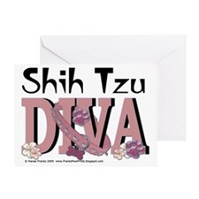 ShihTzuDiva Greeting Card