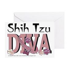 ShihTzuDiva Greeting Card