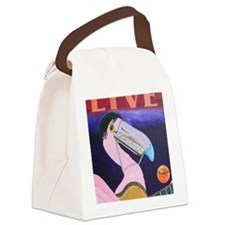 Flamingo Musician Canvas Lunch Bag
