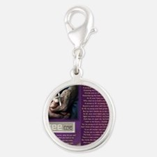 Look Closer See ME Silver Round Charm