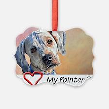 Love my Pointer 200 dpi Ornament