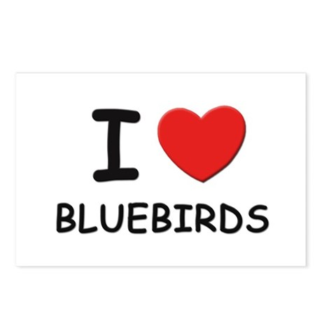 I love bluebirds Postcards (Package of 8)