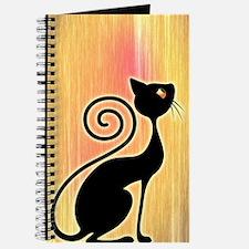 Black Cat Vintage Style Design Journal