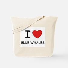 I love blue whales Tote Bag