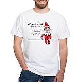 Elf shirts Mens White T-shirts