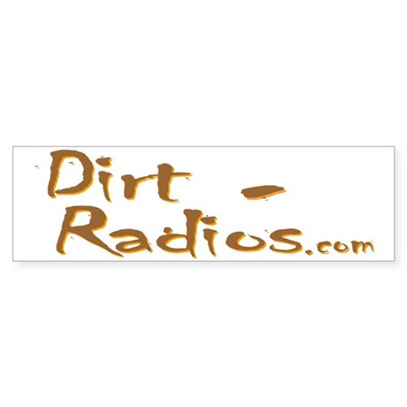 DirtRadios_Logo_no_slogan Sticker (Bumper)