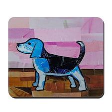 Blue Beagle Mousepad