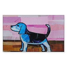 Blue Beagle Decal