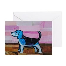 Blue Beagle Greeting Card