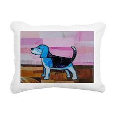 Blue Beagle Rectangular Canvas Pillow
