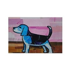 Blue Beagle Rectangle Magnet