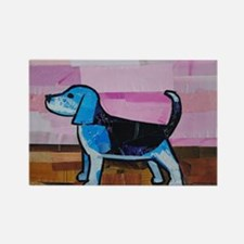 Blue Beagle Rectangle Magnet
