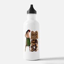 tiki  wahine-Lg-color- Water Bottle