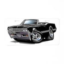 1966 Olds Cutlass Black Con Aluminum License Plate