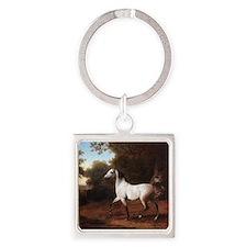Grey horse Keychains