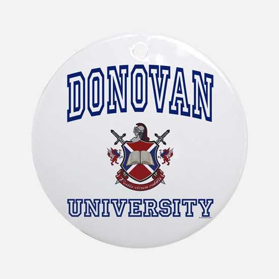 DONOVAN University Ornament (Round)