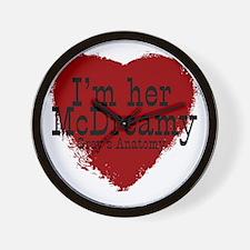 3-her McDreamy Wall Clock