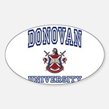 DONOVAN University Oval Decal