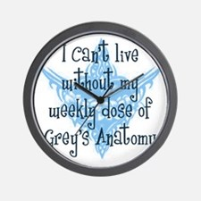 2-weekly dose blue Wall Clock
