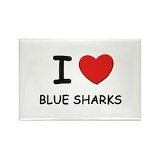 I love blue sharks Rectangle Magnet