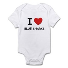 I love blue sharks Infant Bodysuit