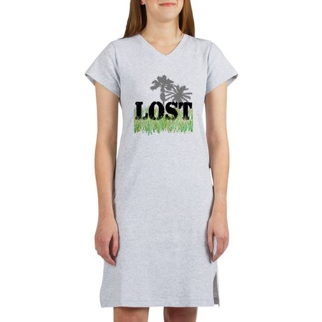 2-Lost palm trees Women's Nightshirt