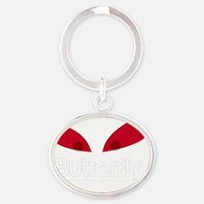 Butterfly Evil Oval Keychain