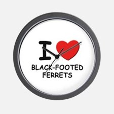 I love black-footed ferrets Wall Clock