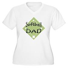 2-Softball-Dad-2 T-Shirt