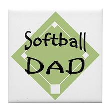 2-Softball-Dad-2 Tile Coaster