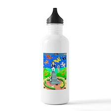 Raining Cats  Dogs in  Water Bottle