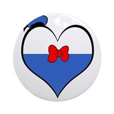 I heart Donald Duck Round Ornament
