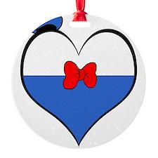 I heart Donald Duck Ornament