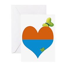 I heart Goofy copy Greeting Card